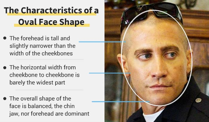 oval face shape features