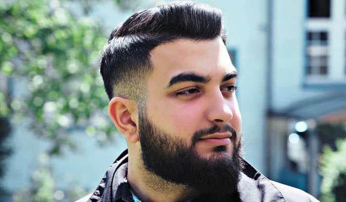 short boxed beard on a chubby guy