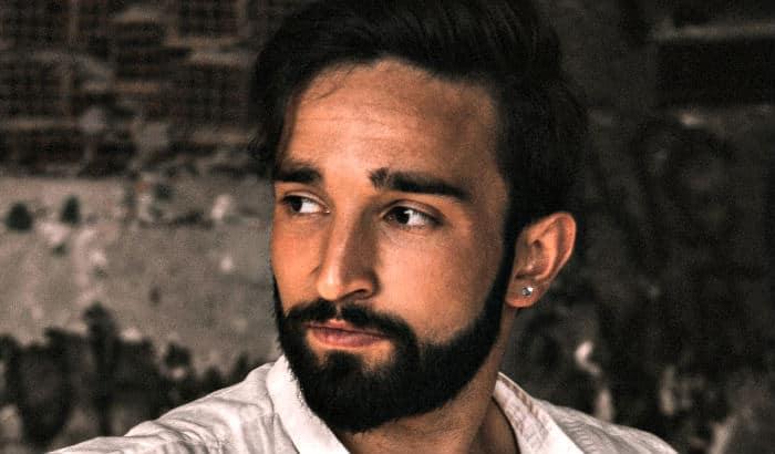 short boxed beard on heart shaped face