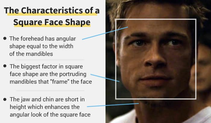 square face shape example