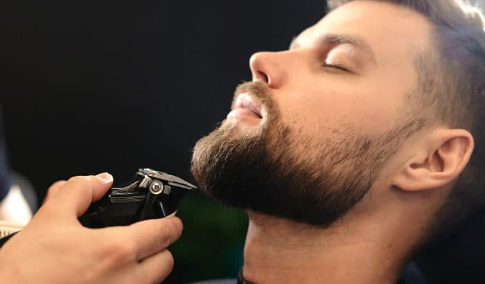 trimming a short boxed beard