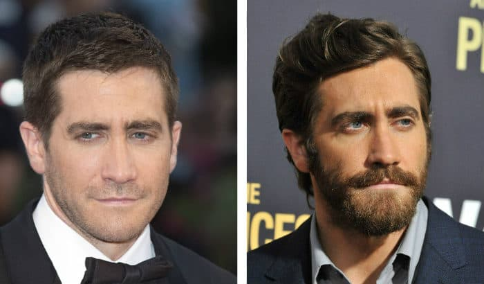 jake gyllenhaal beard vs no beard