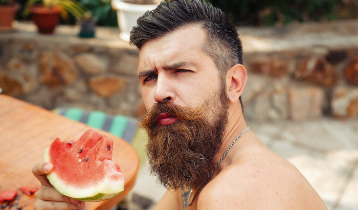 man with thick beard and patchy cheeks