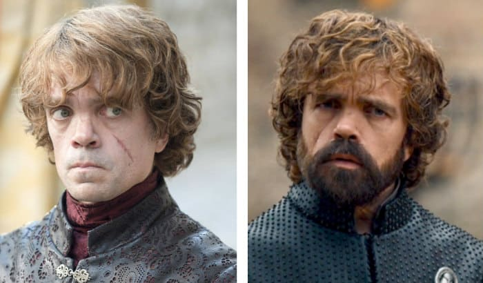 tyrion lannister beard vs no beard