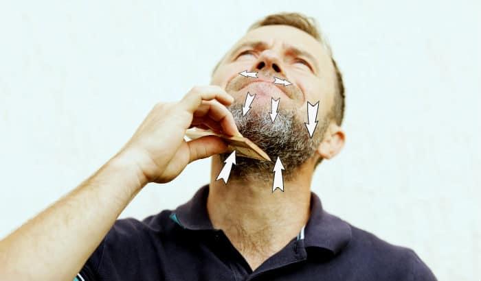 beard combing directions